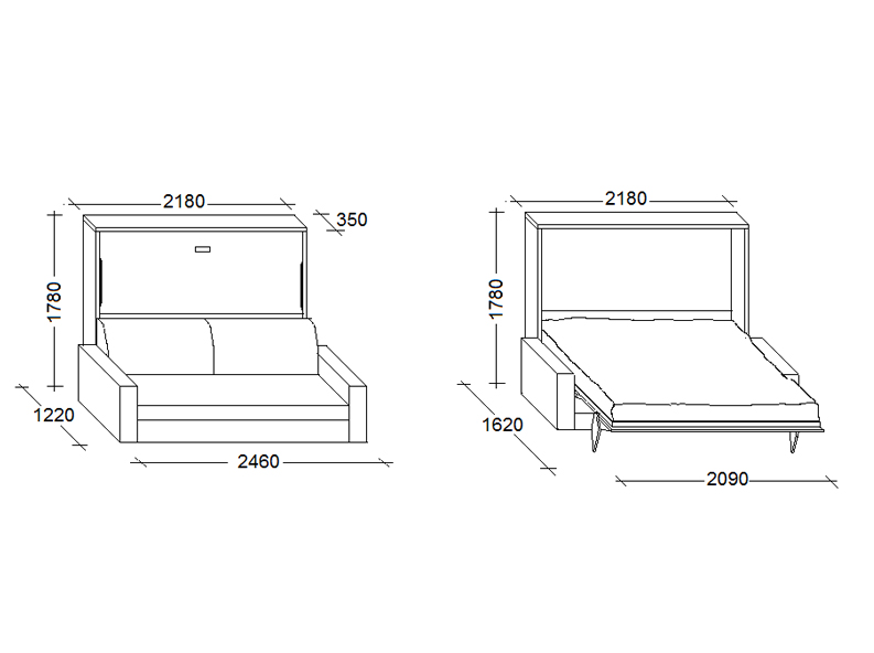 Flip sofa 01 for Sofa bed depth 70cm